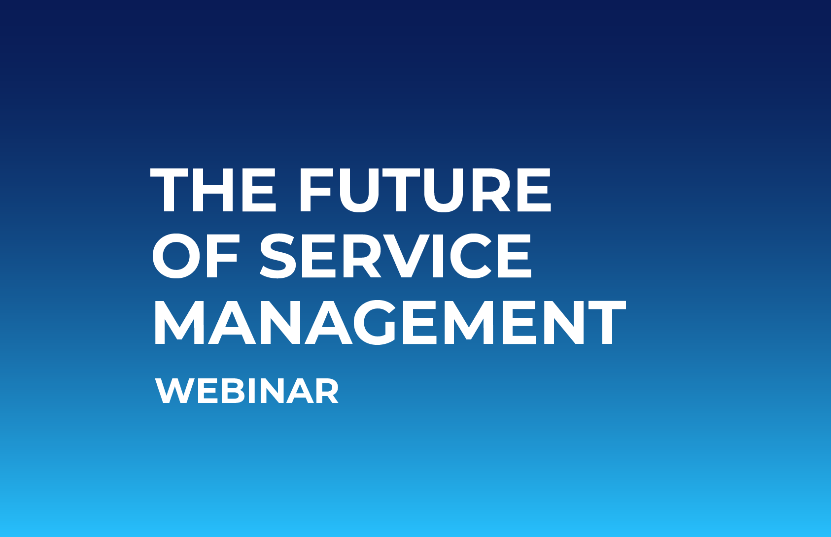 Future of Service Management