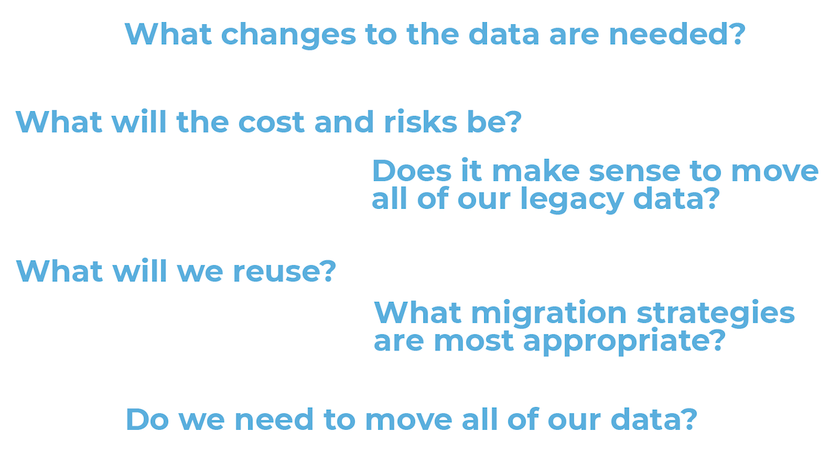 Questions around Cloud Migrations